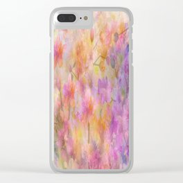 Sophisticated Painterly Floral Abstract Clear iPhone Case