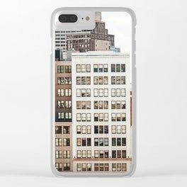 Woodward Avenue, Downtown Detroit Storefront Buildings Clear iPhone Case