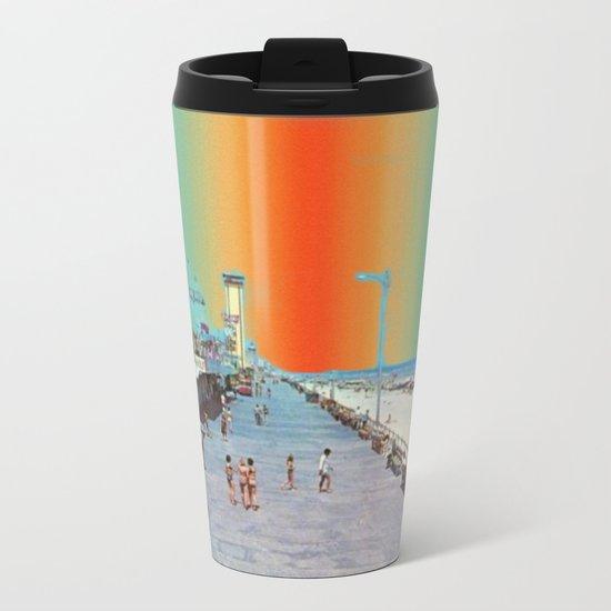 Boardwalk Rainbow Metal Travel Mug