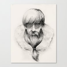 homeless hipster Canvas Print