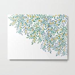 Mistletoe watercolor n.1 Metal Print