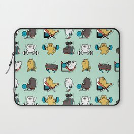 Leg Day with Persian Cat Laptop Sleeve