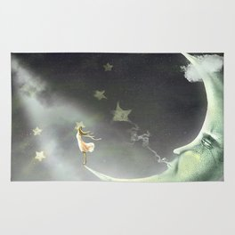 Night. Time of miracles and magic Rug