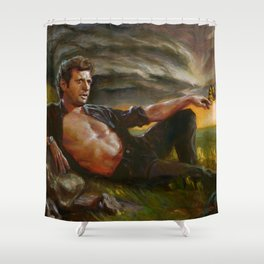 Ian Malcolm: From Chaos Shower Curtain