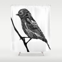 ornate Shower Curtains featuring Ornate Bird by ZantosDesign