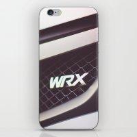 subaru iPhone & iPod Skins featuring Subaru WRX Badge by Jacob Brcic