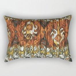 Festive Confusion Pink Black and Orange Rectangular Pillow