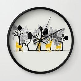 Trees & Deers Wall Clock