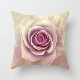 Tea Rose Painterly Abstract Throw Pillow