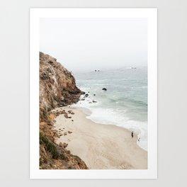California Coast Modern Minimalist Art Art Print