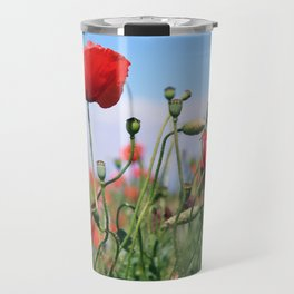 poppy flower no13 Travel Mug