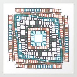 Squared layers No.2 Art Print