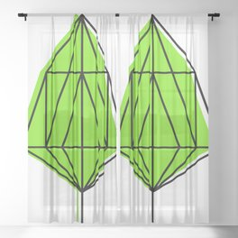 Lime Leaf Sheer Curtain