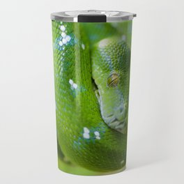Green snake Travel Mug