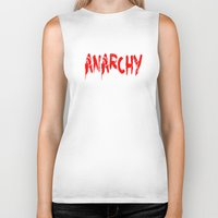 sons of anarchy Biker Tanks featuring ANARCHY by lucborell