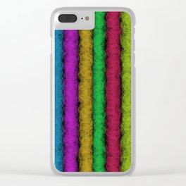 Colorful Fleece Clear iPhone Case