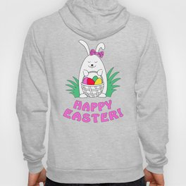 happy easter with funny rabbit Hoody