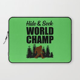 Hide and seek world champ funny quote Laptop Sleeve