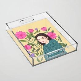 Leaves Acrylic Tray
