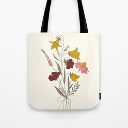 Wildflowers Bouquet Tote Bag