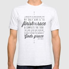 Acts 20:24 X-LARGE Ash Grey Mens Fitted Tee