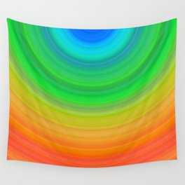Rainbow Smile Colored Circles Summer Pattern Wall Tapestry