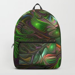 Colorful and Luminous, Abstract Fractal Art Backpack