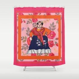 Fluffy Francesca Shower Curtain