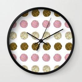 Conchas Pan Dulce Wall Clock