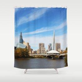 Downtown Winnipeg 2 Picture Panorama Shower Curtain