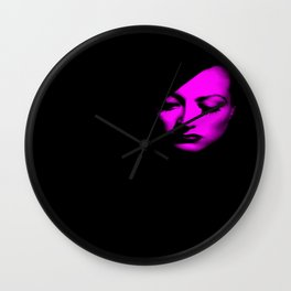 Joan Crawford Fuchsia Wall Clock