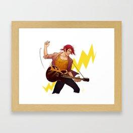 Rock shark Framed Art Print
