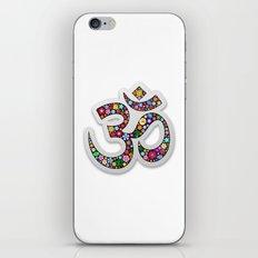 Namaste Floral Yoga Symbol iPhone Skin