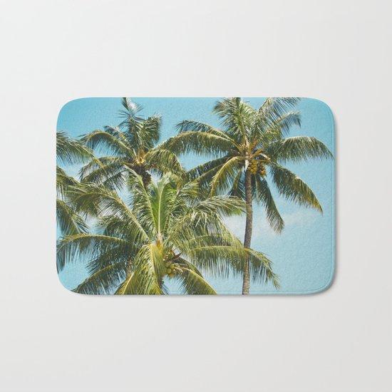 Coconut Palm Trees Sugar Beach Kihei Maui Hawaii Bath Mat