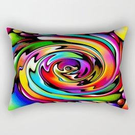 Rainbow Swirl Rectangular Pillow
