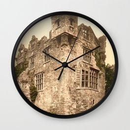 Vintage Photo-Print of Donegal Castle (1900) Wall Clock
