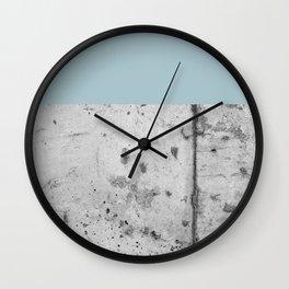 Color Block Concrete Wall Clock