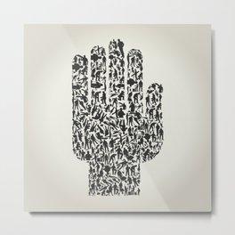Hand workers Metal Print