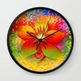 Floral Abstract Lattice Art Wall Clock