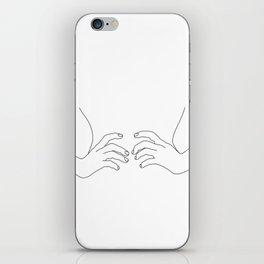Hands on waist line drawing illustration - Harper iPhone Skin