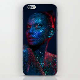 Dark glitter I iPhone Skin