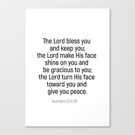 Numbers 6 24 #bibleverse #scriptures #blessing Canvas Print