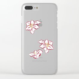 Poinsettia - white Clear iPhone Case