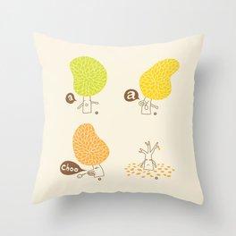 Season sneeze Throw Pillow