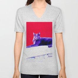 Blue Cat Unisex V-Neck