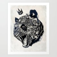 panda Art Prints featuring Panda by Feline Zegers