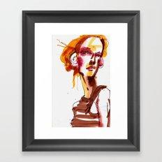 HAIR MODEL #1 Framed Art Print