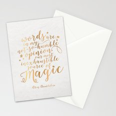 Dumbledore's Magic Words Stationery Cards