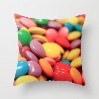 confetti Throw Pillows featuring Confetti by Studio Laura Campanella