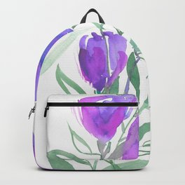 Tulipes Pourpres Backpack